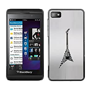 For Blackberry Z10 , S-type® Rock Heavy Metal Art Drawing - Arte & diseño plástico duro Fundas Cover Cubre Hard Case Cover