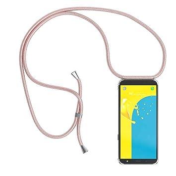 YuhooTech Funda con Cuerda para Samsung Galaxy J5 2016, [Moda y Practico] [ Anti-Choque] [Anti-rasguños] Suave Silicona Transparente TPU Carcasa de ...