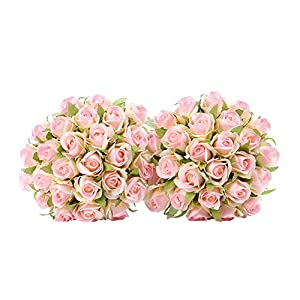 Easin Wedding Flower Artificial Flowers for Room Home Hotel Party Event Decoration Silk Mini Rose Bud 2 Set 31