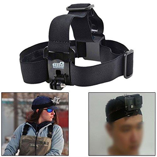 [해외]EEEKit 액세서리 Activeton CX 액션 용 스타터 키트 캠 카메라, 헤드 스트랩 플로트 그립 핸들 폴 체스트 하네스 자동차 셀키 스틱 모노 포드 폴 마운트/EEEKit Accessories Starter Kit for Activeon CX Action Cam Camera, Head Strap Floaty Grip...
