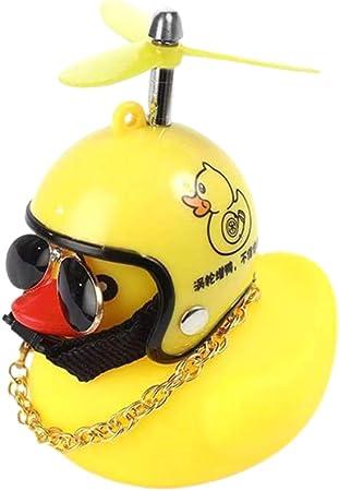 Ufavor Ente Spielzeug Auto Ornament Gelb Ente Auto Armaturenbrett Dekorationen Mit Propeller Helm Für Erwachsene Kinder Küche Haushalt