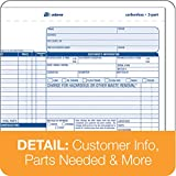 Adams Auto Repair Order Forms, 8.5 x 7.44