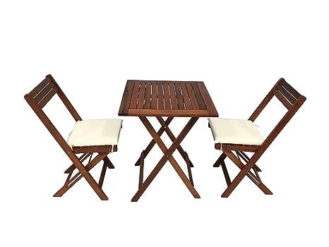 Tavoli E Sedie In Legno Da Esterno.Guidetti 3040l Tavolo E Sedie Legno Per Esterno Marrone 60x60x72 Cm