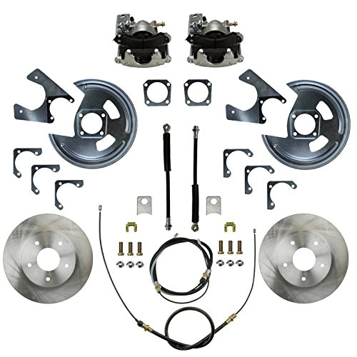 LEED Brakes - Rear Disc Brake Conversion - Single Piston GM 10 & 12 Bolt Staggered 2nd Gen