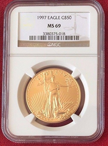 1997 1997 Gold 1oz Coin $50 American Eagle Coin United coin MS 69 NGC