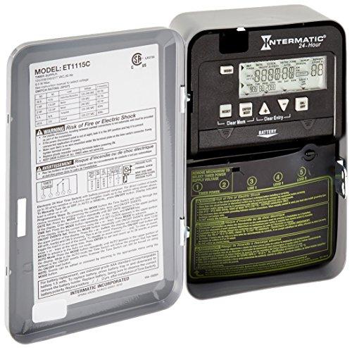 Intermatic ET1115C 24-Hour 20/30-Amps SPDT Electronic Time Switch, Clock Voltage 120-Volt - 277-Volt NEMA 1 by Intermatic