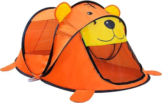 DAZISEN Infantil Carpa Plegable - Niños Niñas Lindo Dibujos Animados Pop up Tienda campaña, Naranja-Tigre, 1 Bebé: Amazon.es: Deportes y aire libre