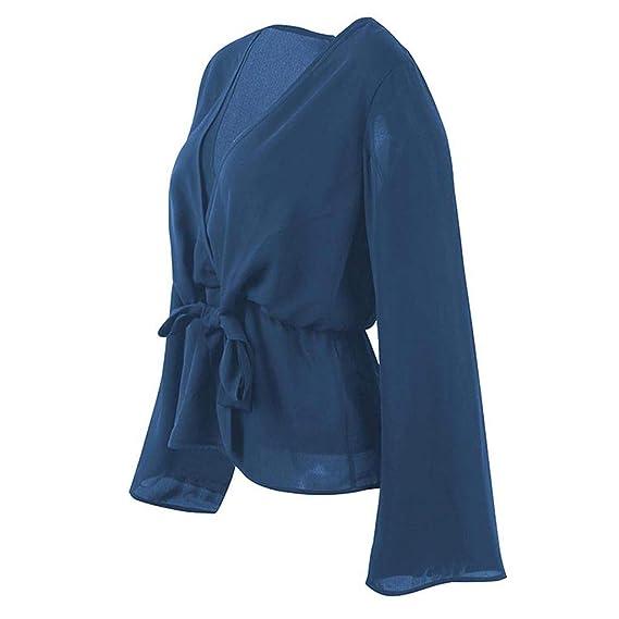 Vectry Camisas Y Blusas Blusas Largas para Leggins Blusas Lactancia  Pantalones Y Blusas De Fiesta Blusa Gasa Mujer Manga Larga Blusa Cuello  Alto Blusas ... f9620893f4e