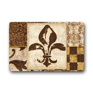 Good_quality Custom Fleur de Lis A Doormat Rug Indoor/Outdoor Door Mats Home Decor 23.6 (L) x 15.7 (W) Non Slip