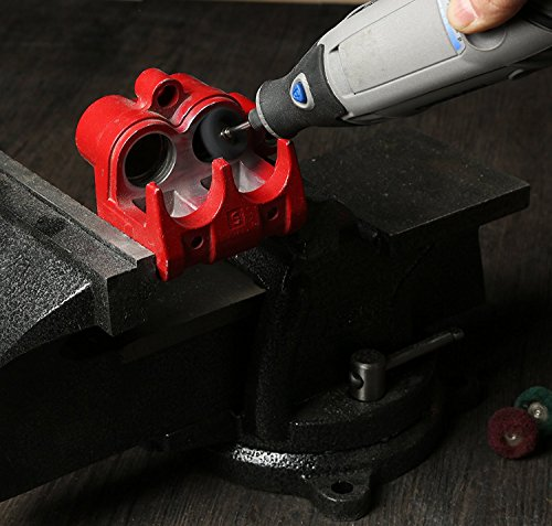 Rocaris 1'' (25mm) Black 300 Grit Abrasive Buffing Polishing Wheels Burr For Proxxon Dremel Rotary Tools-1/8''(3mm) Shank Pack of 50Pcs by Rocaris (Image #8)
