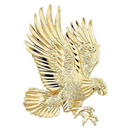14k Yellow Gold Eagle Pendant (14k Gold Eagle Pendant)