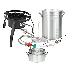 Bayou Classic 3016 30-Quart Outdoor Turkey Fryer with Basket and Fry Pot