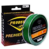 Proberos Braided Fishing Line PE Fiber Fish Line Ultra High Molecular Weight Super Powerful Lines 4 Strands 500M/546YD 6LB-100LB Spool High Sensitivity Zero Stretch Strong Abrasion (40lb, Green) For Sale