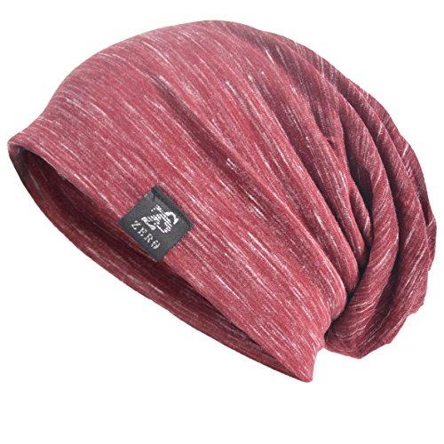 - VECRY Men Slouch Hollow Beanie Thin Summer Cap Skullcap (Multi-Red)