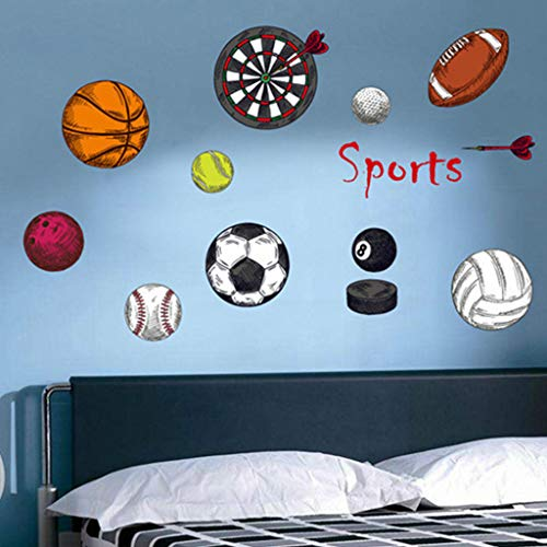 SUJING Removable Vinyl Decal Art Mural Sports ball