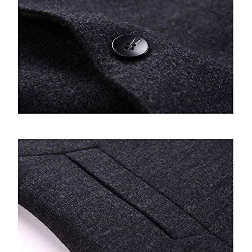 Hommes Des Vêtements Manteau Épais Rlrl Long Laine D'affaires Black D'hiver De cRxI8cn6