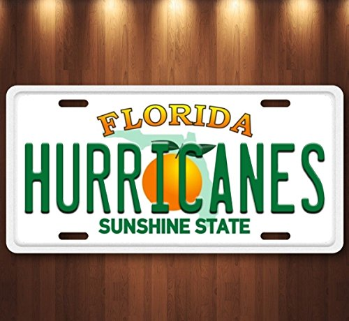 Forever Signs Of Scottsdale Miami Hurricanes Florida Aluminum License Plate Tag New (Miami Hurricanes Sign)