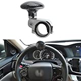 Metal + ABS Truck Steering Wheel Suicide Spinner Handle Power Ball Booster Spin Knob Clamp Fit for Universal Car (Black)