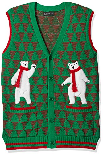 (Blizzard Bay Men's Polar Bear Dance Party Ugly Christmas Sweater, Green,)