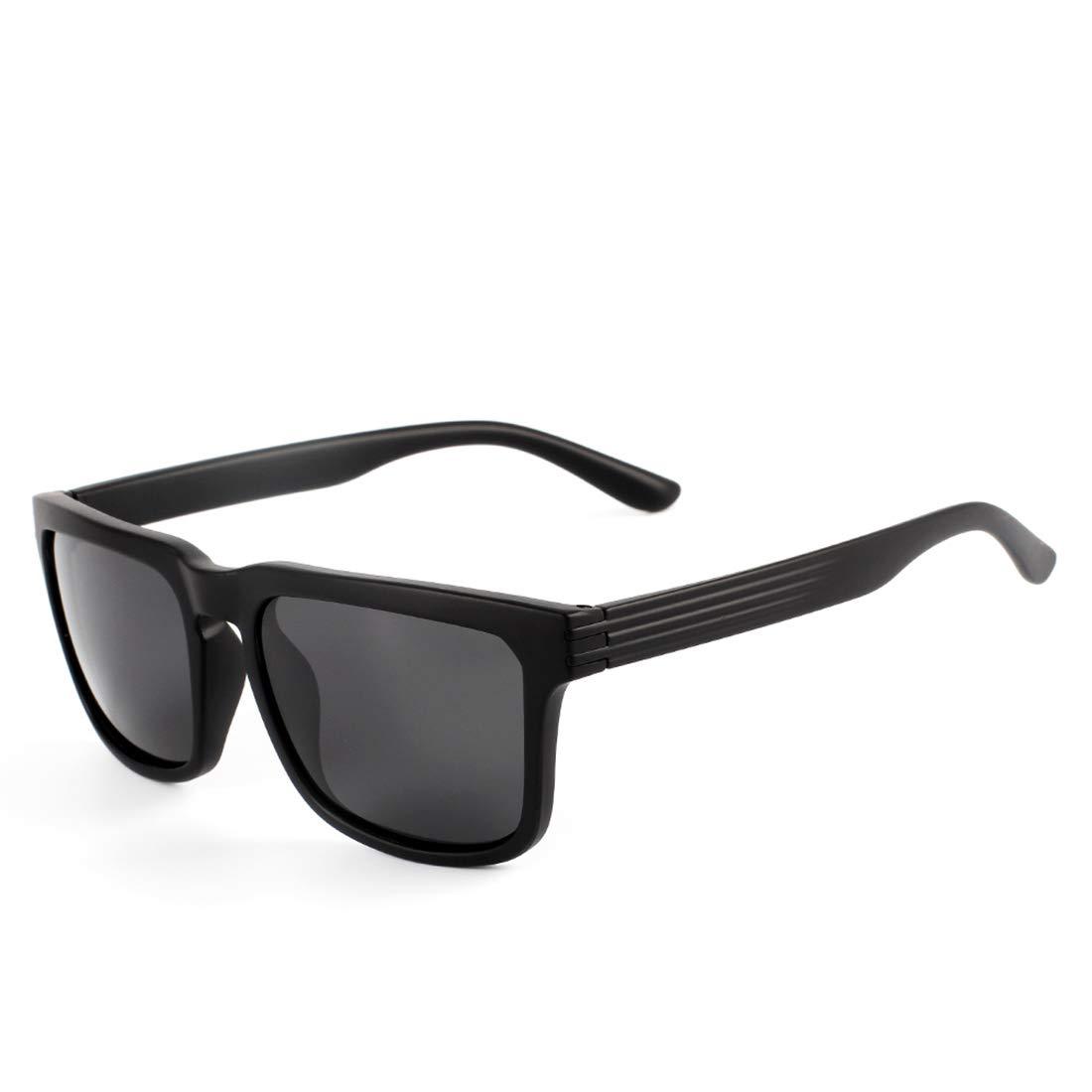 0ba730392d Sakuldes Gafas de Sol polarizadas de la protección Ultravioleta Gafas de Sol  Vintage de los Hombres (Color : Black Frame/Black Lens): Amazon.es: Hogar
