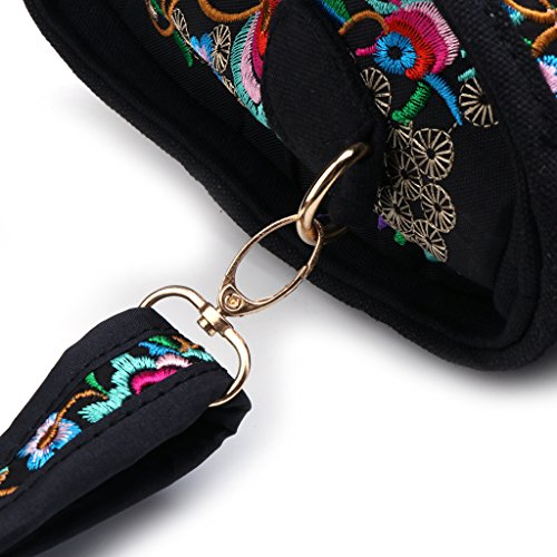 Femmes Ethnique Toile Main 01 Sac 01 Floral Dabixx Brodé Sac Boho À Cabas Zipper Shopping xYq8dp4pw
