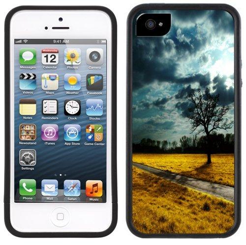 Feld Im Sturm | Handgefertigt | iPhone 5 5s | Schwarze Hülle