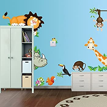 Amazoncom Rainbow Fox Lovely Blooms Zoo Nursery Childrens Room
