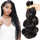 "New 2016 Grade 7a Micro mini Braiding Hair Brazilian Bulk Hair For Braiding 3 Bundles Lot 100% Human Wet And Wavy Brazilian Braiding Hair(18""20""22"")A-Natural Color 1B#"