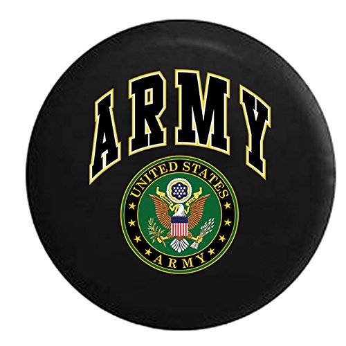 Jeep Tire Cover for Spare Tire Army United States Seal Military Spare Tire Cover Black 33 in