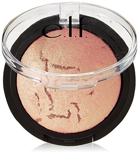 e.l.f. Cosmetics Baked Blush, Skin Illuminating Blush for Radiant Skin, Peachy Cheeky (Best Peachy Pink Blush)