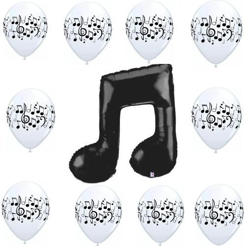 [Music Notes Balloon Decoration Party Supplies Kit] (Music Party Decorations)