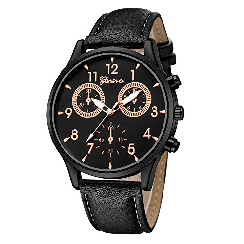 Dial Brown Leather Band - 9