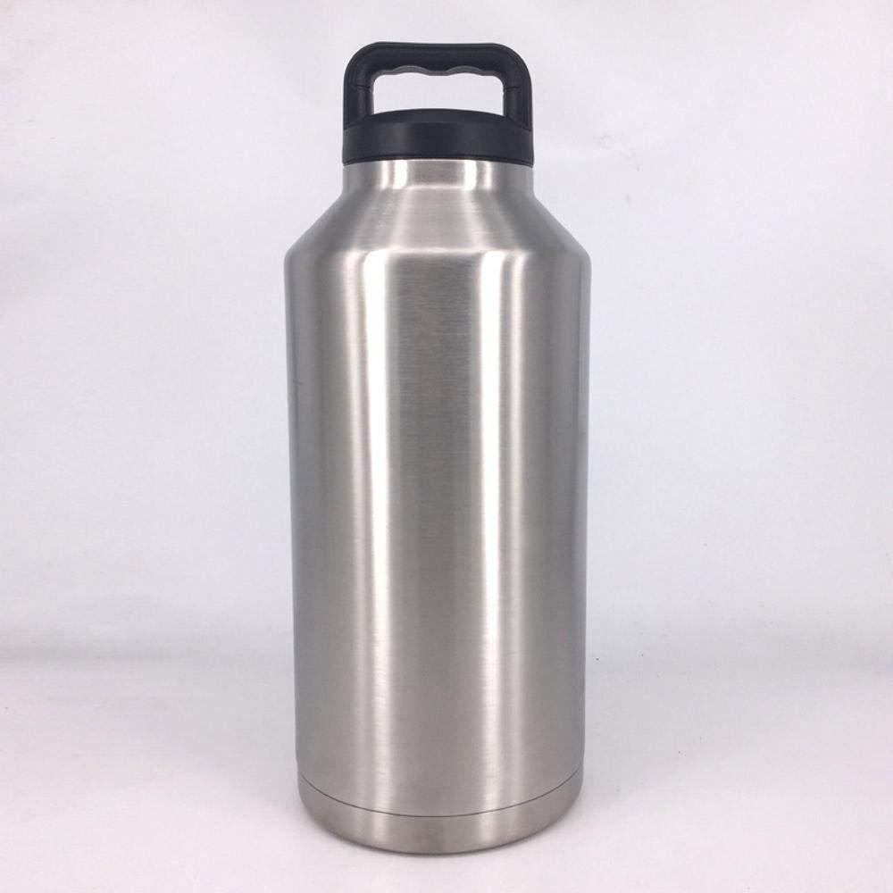AQWWHY Edelstahl-Wasserbecher Thermos Doppel-Edelstahl-Isolierflasche Outdoor-Wasserglas Outdoor Space Wasserflasche