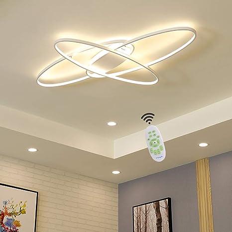 Wohnzimmerlampe LED Deckenleuchte Modern Chic Oval Decke Dimmbar  Deckenlampe, Schlafzimmerlampe mit Fernbedienung Acryl Lampenschirm Design  Lampen für ...