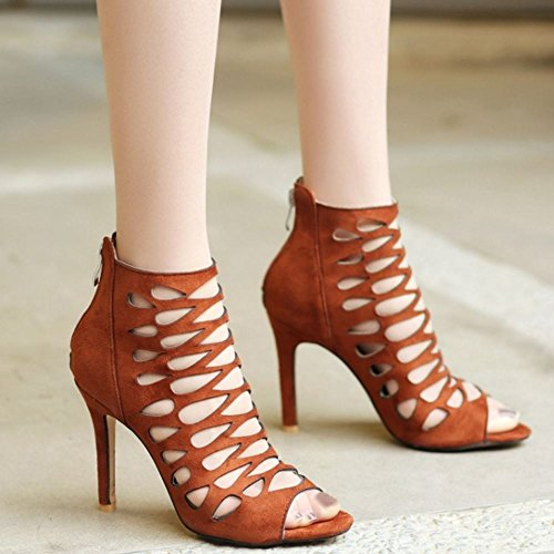 Sandali brown Donna Zanpa 1 Gladiator Moda Caviglia HPwBTx