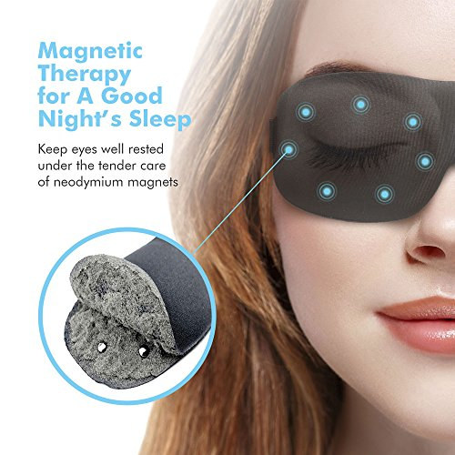 Sleep Mask for Woman & Man Upgraded Contoured 3D Eye Mask Eye Cover for Sleeping - Comfortable Sleeping Mask No Pressure On Your Eyeballs - Create Total Darkness (Black)