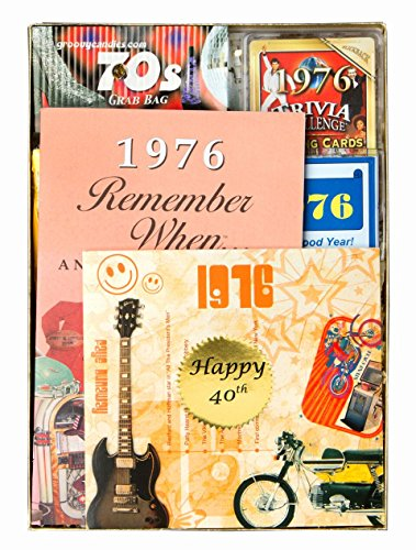40th Birthday Gift for Men or Women - 40th Anniversary Gift Time Capsule from 1976