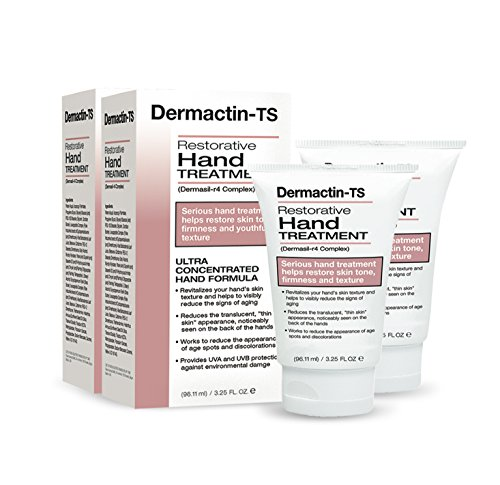 Dermactin - TS Restorative Hand Treatment 3.25 oz. (Pack of 2) - for Soft & Supple Hands, Revitalizes Skin Texture, Visibly Reduces Signs Of Aging, Deeply Moisturizes & Repairs Driest - Hand Ts Treatment Dermactin