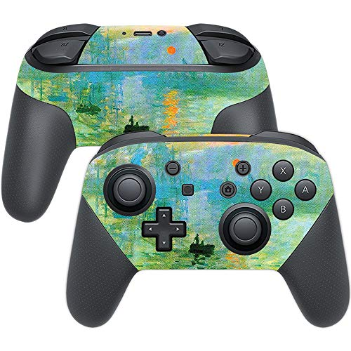 MightySkins Skin Compatible with Nintendo Switch Pro Controller - Impression Sunrise | Protective, Durable, and Unique Vinyl wrap Cover | Easy to Apply, Remove, and Change Styles | Made in The USA