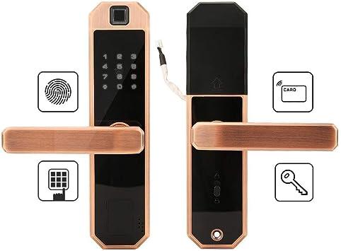 Fingerprint Security Door Lock Smart Touch Password or Key 3 Ways to Open UK NEW