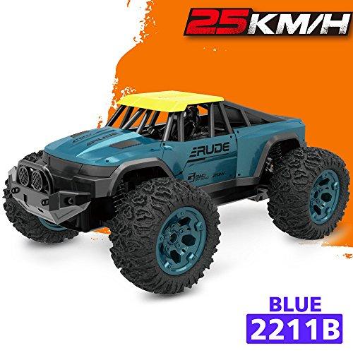 TwoCC Drone Télécommande Avion De Voiture Jouet, 1:12 2.4G Télécommande 2WD Offroad Monster Truck Haute Vitesse Rtr Rc Voiture Jouet (A)