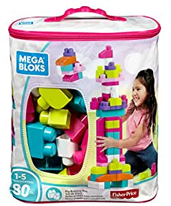 Mega Bloks Big Building Bag 80-Piece - Pink