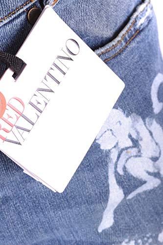 Jeans Femme Valentino MCBI249093O Red Coton Bleu fX5B1yqBw