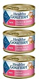 Blue Buffalo Healthy Gourmet Natural Cat Food Pate 3 Flavor Variety 6 Can
