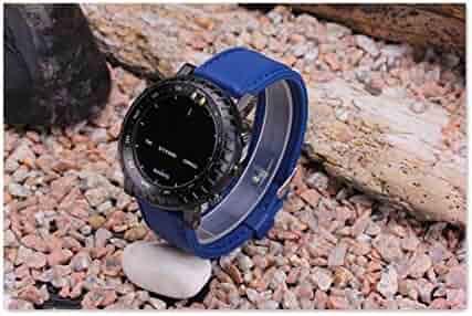 24mm SUUNTO CORE Ultrathin blue Silicoch Bne Strap Watand+Adapters+Buckle