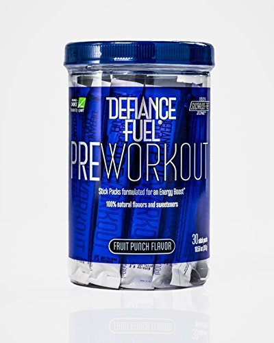 Defiance Fuel Pre Workout Powder Energy Drink w/ Beta Alanine, Taurine and Amino Acids