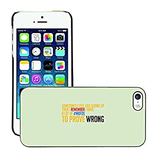 Hot Style Cell Phone PC Hard Case Cover // M00044386 like up typography giving artistic // Apple iPhone 5 5S