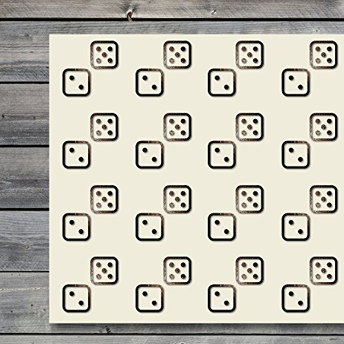 - Dice Casino Gaming Chance Craft Stickers, 44 Stickers at 1.5 Inches, Great Shapes for Scrapbook, Party, Seals, DIY Projects, Item 74493