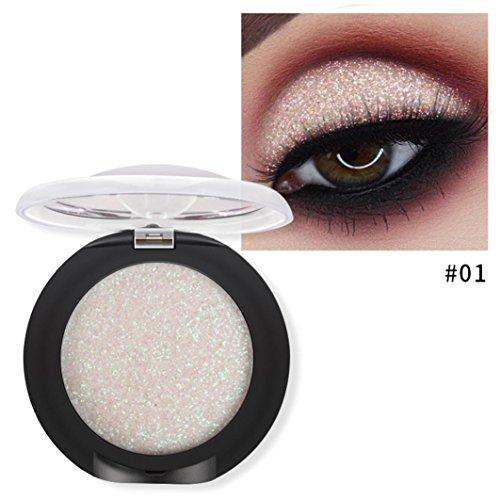 Oksale 20 Colors Eyeshadow Powder Diamond Makeup Pearl Metallic Eyeshadow Palette (A)