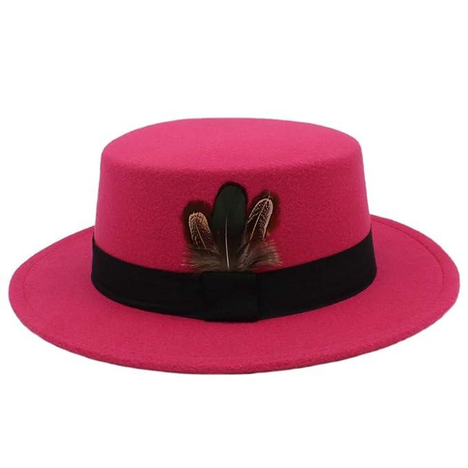 e731789ce91 CHENJUAN Pork Pie Hat Men Tan Wool Fedora Hats Winter Bowler Women Brown  Felt Fedoras Hat